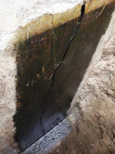 excavation et fissure